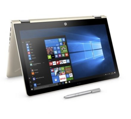 """""""HP Pavilion 15-br082wm X360 15.6"""""""" Touchscreen 2 in 1 Laptop, Windows 10, Intel Corei5-7200U Processor, 8GB Memory, 1TB Hard Drive, and Active Pen Included, Silk Gold"""""""