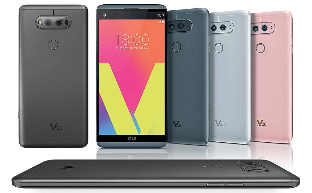 LG V20 H910 AT&T Unvlocked Android 7 64GB 16MP Smartphone GOOD Silver Titan Gray