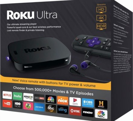 Roku Ultra 4K Ultra HD HDR Media Streaming Player Device 2017 Edition - 4660R
