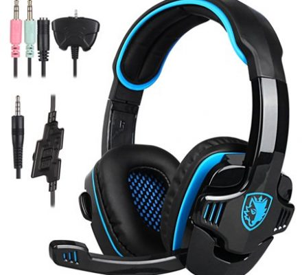 SADES SA-708 GT Stereo HiFi Gaming Headset Headphone with Microphone for PS4 Xbox360 PC Mac SmartPhone Laptop