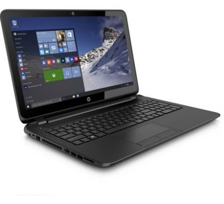 """HP Black Licorice 15.6"""" 15-F387WM Laptop PC with AMD A8-7410 Processor, 4GB Memory, touch screen, 500GB Hard Drive and Windows 10 Home"""