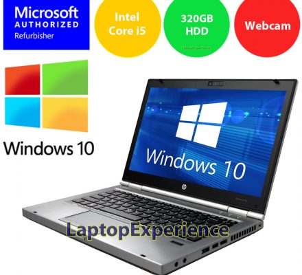 HP LAPTOP ELITEBOOK 8470p i5 2.6GHz 4GB LED DVD WEBCAM WINDOWS 10 WIN WiFi PC HD