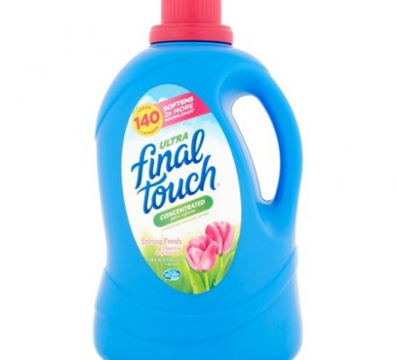 Final Touch Ultra Concentrated Fabric Softener, Spring Fresh, 120 Oz, 140 Loads